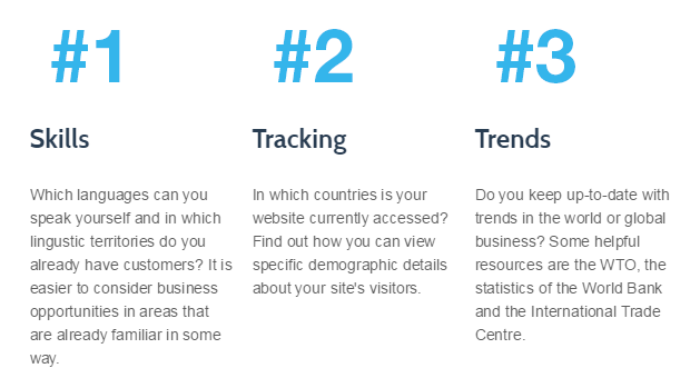 Skills, tracking, trends